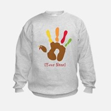 Personalized Turkey Hand Sweatshirt