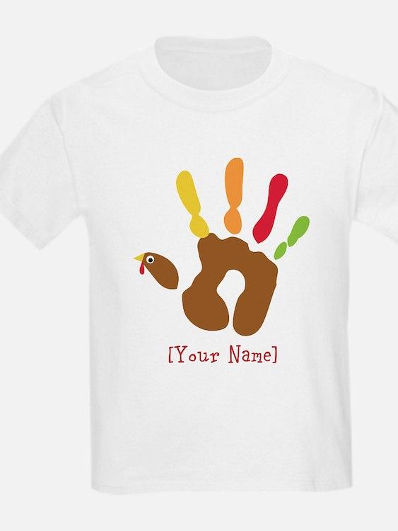 Personalized Turkey Hand T-Shirt