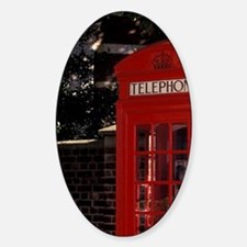Westminster. Red phone box on Millb Sticker (Oval)