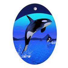 orca_iphone_4_slider_case Oval Ornament