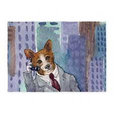 c cal 1 dog about town 5'x7'Area Rug
