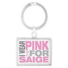 I-wear-pink-for-SAIGE Landscape Keychain