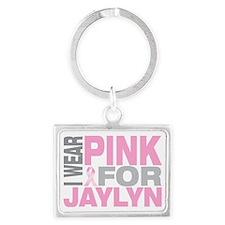 I-wear-pink-for-JAYLYN Landscape Keychain