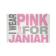 I-wear-pink-for-JANIAH Rectangle Magnet