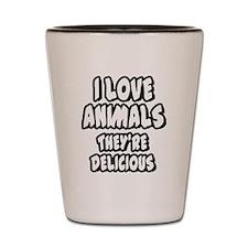 i-love-animals-001 Shot Glass