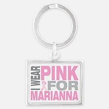 I-wear-pink-for-MARIANNA Landscape Keychain