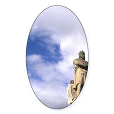 Statue of famous warrior King Rober Decal