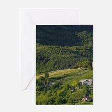 PLESIVICA. Hilly countryside near SA Greeting Card