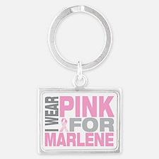 I-wear-pink-for-MARLENE Landscape Keychain