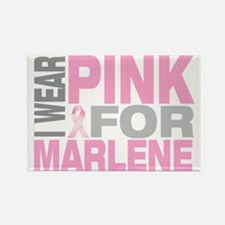 I-wear-pink-for-MARLENE Rectangle Magnet