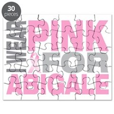I-wear-pink-for-ABIGALE Puzzle
