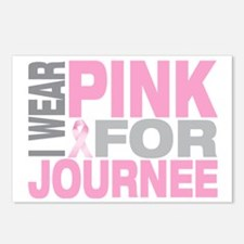 I-wear-pink-for-JOURNEE Postcards (Package of 8)