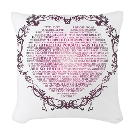 Heart v2 Woven Throw Pillow