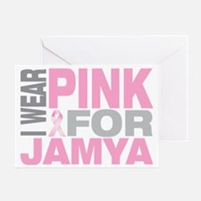 I-wear-pink-for-JAMYA Greeting Card