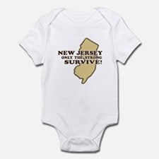 New Jersey Only the strong su Infant Bodysuit
