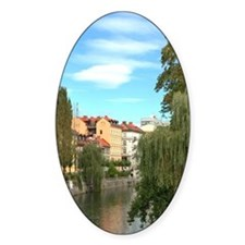 Weeping Willows along Ljublianica R Decal