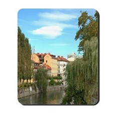 Weeping Willows along Ljublianica Rivero Mousepad