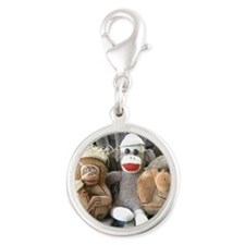 coconuts Silver Round Charm