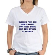 Blessed are the hairstylists. Shirt