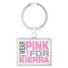 I-wear-pink-for-KIERRA Landscape Keychain