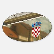 Croatia-Zagreb. Old Town Zagreb-Cro Decal