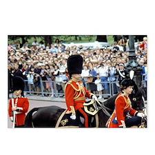 Queen Elizabeth on horseb Postcards (Package of 8)