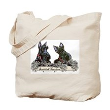Lilac Scottish Terriers Tote Bag