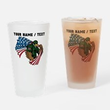 Custom American Eagle Soldier Drinking Glass