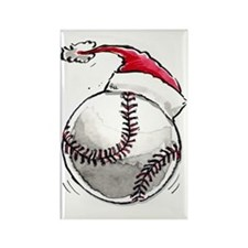 Xmasbaseball Rectangle Magnet