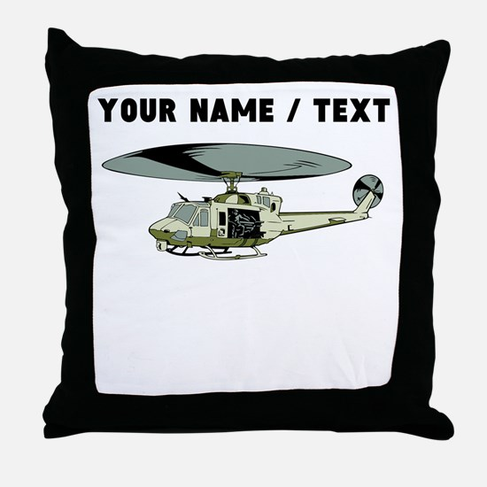 Custom Military Helicopter Throw Pillow