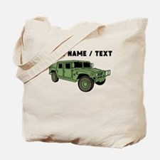Custom Green Military Humvee Tote Bag