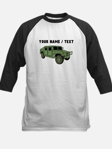 Custom Green Military Humvee Baseball Jersey