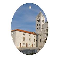 Croatia, Zadar, St. Mary's church Oval Ornament