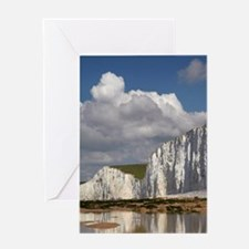 Seven Sisters Chalk Cliffs, Birling  Greeting Card