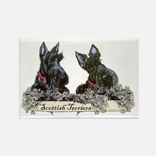 Lilac Scottish Terriers Rectangle Magnet