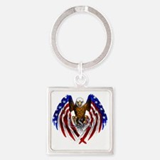 eagle2 Square Keychain