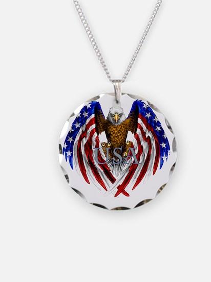 eagle2 Necklace Circle Charm