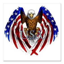 "eagle2 Square Car Magnet 3"" x 3"""