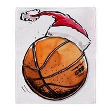 Xmasbasketball Throw Blanket