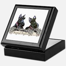 Lilac Scottish Terriers Keepsake Box