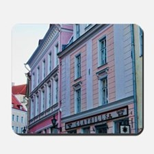 Tallinn, Estonia. Old Town's pastel buil Mousepad