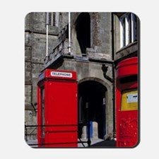 England. The bright red post box and tel Mousepad