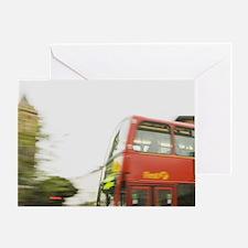 UK, London. Bayswater. Double decker Greeting Card