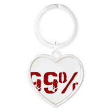 I am the 99%, Dont care if you are  Heart Keychain