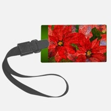 PoinsettiaLong Luggage Tag