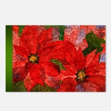 PoinsettiaLong Postcards (Package of 8)
