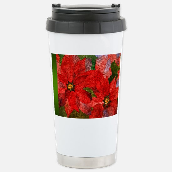 PoinsettiaLong Stainless Steel Travel Mug