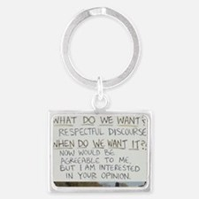 respectful discourse Landscape Keychain