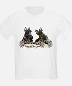 Lilac Scottish Terriers Kids T-Shirt