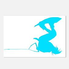 Blue Wakeboard Invert HP Postcards (Package of 8)